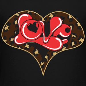 LEPOARD LOVE HEART - Toddler Premium T-Shirt