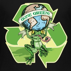 Gone Green Earth Day Frog - Toddler Premium T-Shirt
