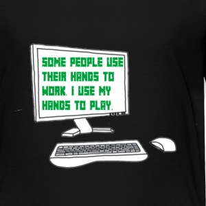 Gamer quote on Computer Screen - Toddler Premium T-Shirt