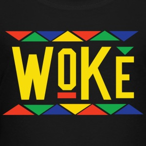 Woke - Tribal Design (Yellow Letters) - Toddler Premium T-Shirt