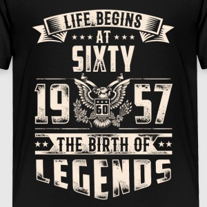 Life Begins At Sixty The Birth Of Legends tshirt - Toddler Premium T-Shirt