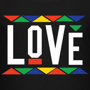 Love - Tribal Design (White Letters) - Toddler Premium T-Shirt