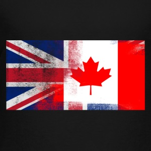 British Canadian Half Canada Half UK Flag - Toddler Premium T-Shirt