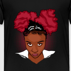 CurlyGirl Kinky Natural Hair Afro Puff T Shirt/Tee - Toddler Premium T-Shirt