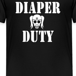 Diaper Duty Funny Gas Mask - Toddler Premium T-Shirt