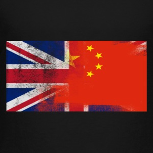British Chinese Half China Half UK Flag - Toddler Premium T-Shirt
