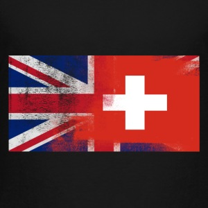 British Swiss Half Switzerland Half UK Flag - Toddler Premium T-Shirt