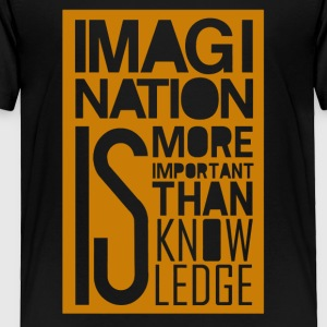 Imagi nation is more important than know ledge - Toddler Premium T-Shirt