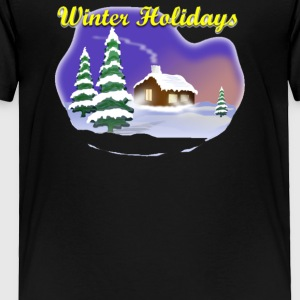 Christmas Scenes Winter Holidays - Toddler Premium T-Shirt