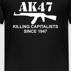 AK47 funny political weapons cool retro rude - Toddler Premium T-Shirt