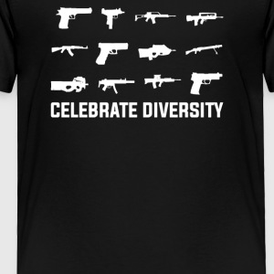 Celebrate Diversity Funny - Toddler Premium T-Shirt