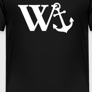 W Anchor Mens Funny Offensive - Toddler Premium T-Shirt