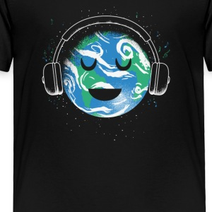 The whole earth loves music - Toddler Premium T-Shirt
