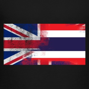 British Thai Half Thailand Half UK Flag - Toddler Premium T-Shirt