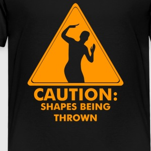 Caution Shapes Being Thrown - Toddler Premium T-Shirt