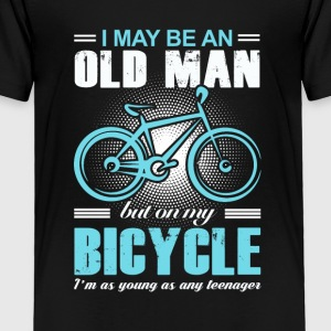Old Man Bicycle T-shirt - Toddler Premium T-Shirt