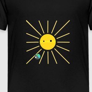 sun earth and moon - Toddler Premium T-Shirt