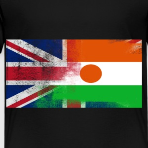 British Nigerien Half Niger Half UK Flag - Toddler Premium T-Shirt