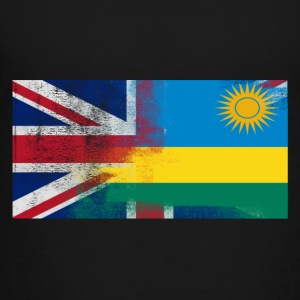 British Rwandan Half Rwanda Half UK Flag - Toddler Premium T-Shirt