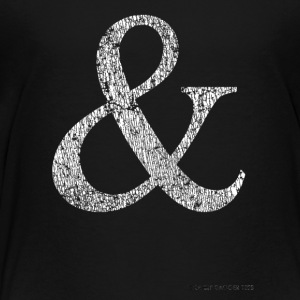 Mens and Womens Distressed Ampersand Tshirt - Toddler Premium T-Shirt