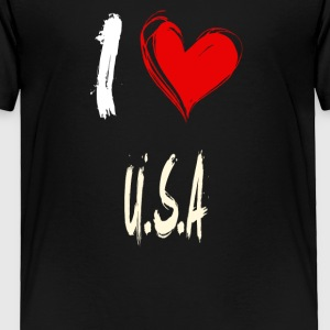 I love U-S-A - Toddler Premium T-Shirt