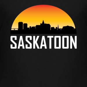 Sunset Skyline Silhouette of Saskatoon SK - Toddler Premium T-Shirt