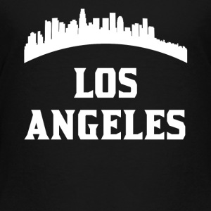 Vintage Style Skyline Of Los Angeles CA - Toddler Premium T-Shirt