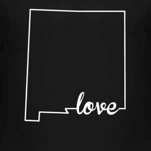 New Mexico Love State Outline - Toddler Premium T-Shirt