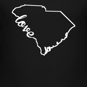 South Carolina Love State Outline - Toddler Premium T-Shirt
