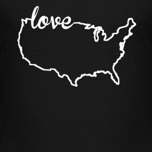 United States Love Country Outline - Toddler Premium T-Shirt