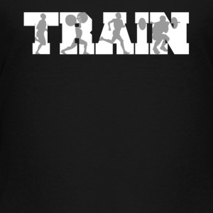 Train Fitness Silhouettes Training - Toddler Premium T-Shirt