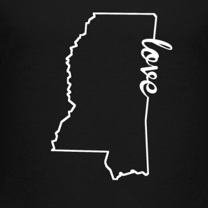 Mississippi Love State Outline - Toddler Premium T-Shirt