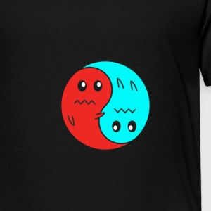 Yin And Yang Ghosts RED/BLUE - Toddler Premium T-Shirt