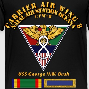 Carrier Air Wing 8 Black T Shirt - Toddler Premium T-Shirt