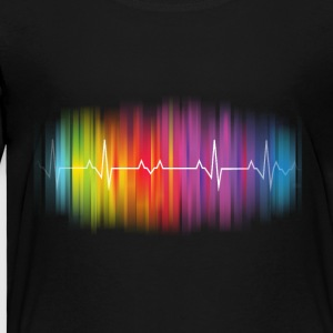 Gay Pride Heartbeat - Toddler Premium T-Shirt