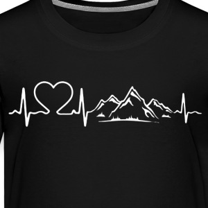 Love Mountains Heartbeat Shirt - Toddler Premium T-Shirt