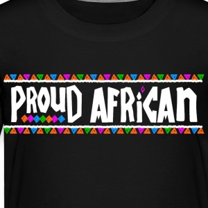 Proud African - Tribal Design (White Letters) - Toddler Premium T-Shirt