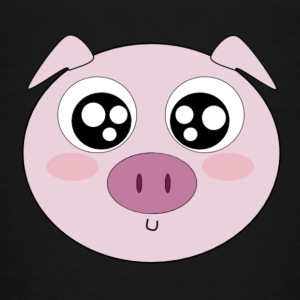 Kawaii Pig Face - Toddler Premium T-Shirt