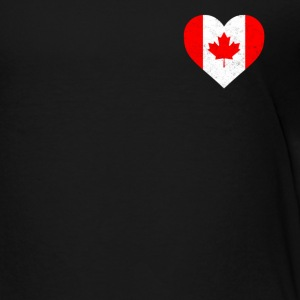 Canada Flag Shirt Heart - Canadian Shirt - Toddler Premium T-Shirt