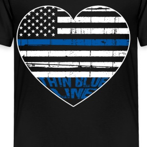 POLICE THIN BLUE LINE HEARTBEAT - Toddler Premium T-Shirt