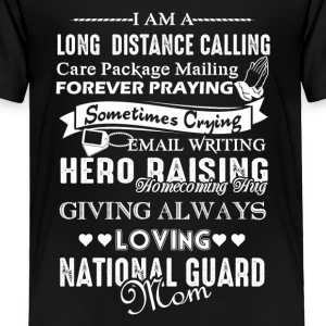 Love National Guard Mom Shirt - Toddler Premium T-Shirt