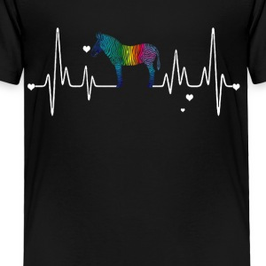 zebra heart shirt - Toddler Premium T-Shirt