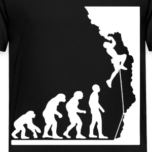 Rock Climbing Evolution Shirt - Toddler Premium T-Shirt