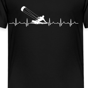Kitesurfing Heartbeat Shirts - Toddler Premium T-Shirt