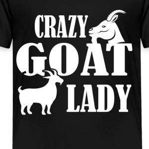 Crazy Goat Lady Shirt - Toddler Premium T-Shirt