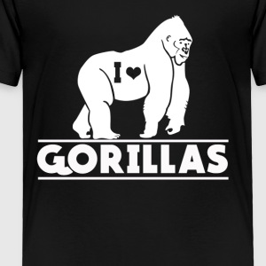 I Love Gorillas Tee Shirt - Toddler Premium T-Shirt