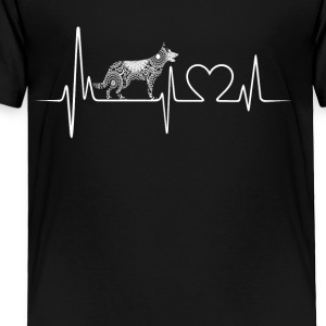 German Shepherd Heartbeat Shirt - Toddler Premium T-Shirt