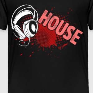 House Music Turntable DJ Tee Shirt - Toddler Premium T-Shirt
