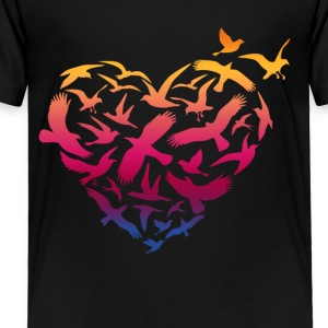 Bird Heart Shirt - Toddler Premium T-Shirt