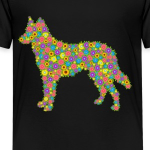 German Shepherd Flower Shirt - Toddler Premium T-Shirt